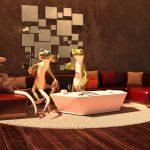 Frösche auf einer Couch - sei ein Frosch erziele Erkenntnisse und Aktionen