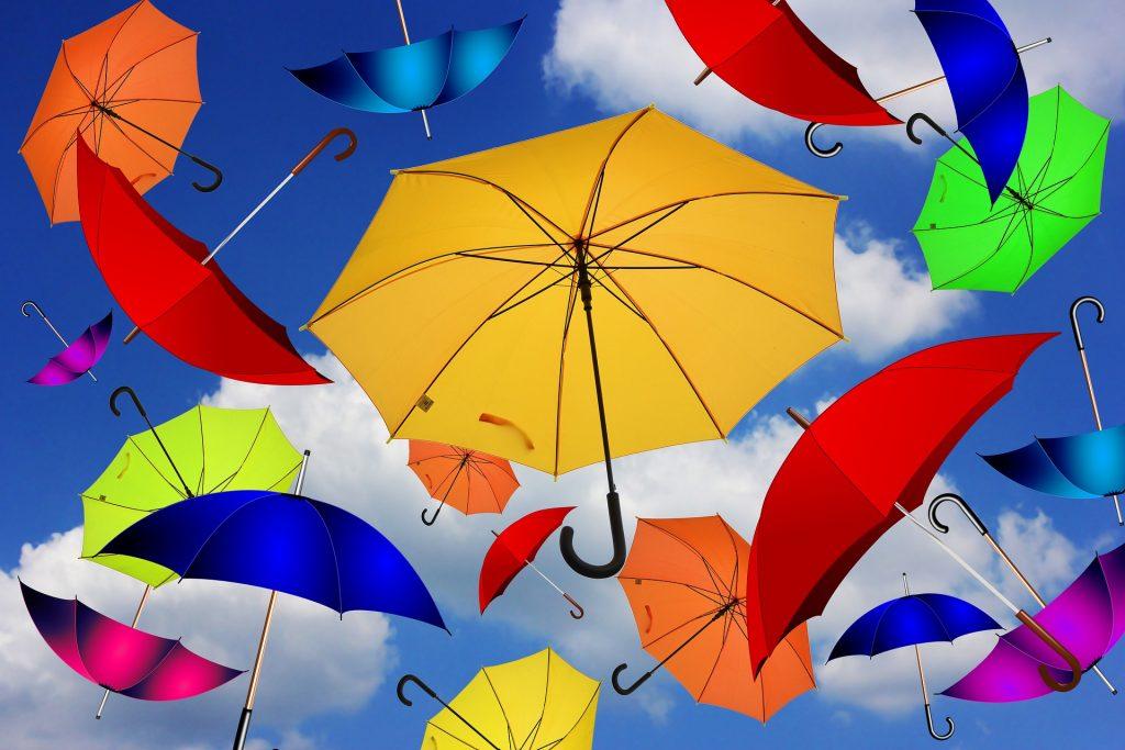 Fähigkeiten wie bunte Regenschirme: Eine Spezialfähigkeit umringt von einer Vielfalt von Fähigkeiten