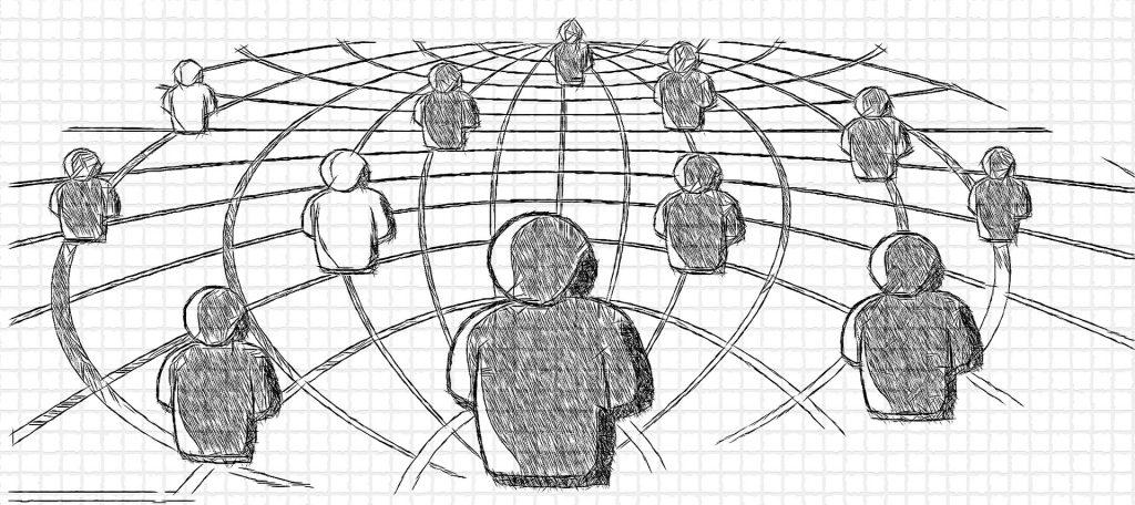 Ein Netz von Menschen