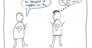 """Scrummaster sagt """"Ein Storypoint ist ungefähr ein Tag."""" und der Entwickler fragt sich, wieso sie dann nicht gleich in Tagen schätzen."""