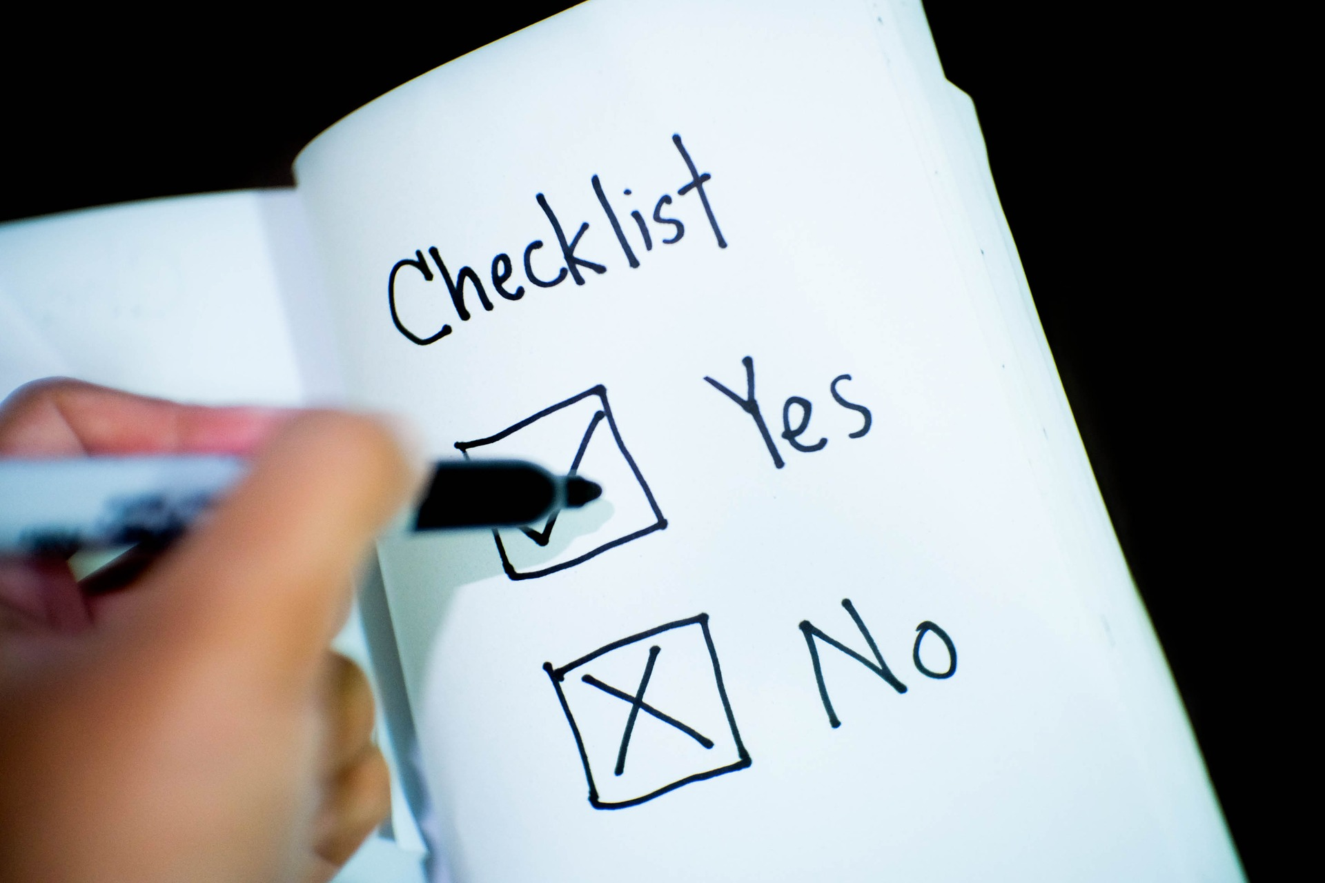 Checkliste: Yes und No